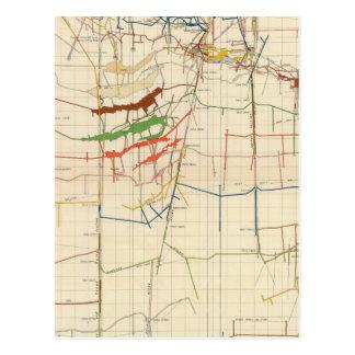 Mapas de mina de Comstock número VI Tarjetas Postales
