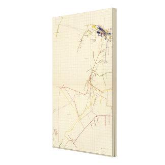 Mapas de mina de Comstock número VII Impresiones En Lona