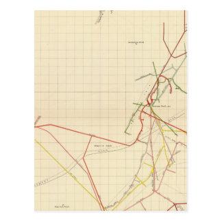 Mapas de mina de Comstock número VII Tarjetas Postales