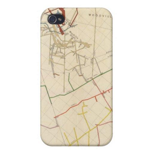 Mapas de mina de Comstock número VIII iPhone 4 Funda