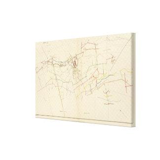 Mapas de mina de Comstock número VIII Lienzo Envuelto Para Galerias