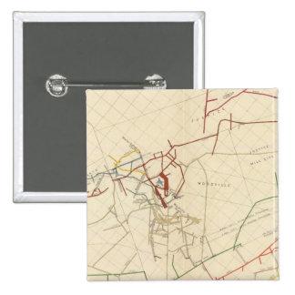 Mapas de mina de Comstock número VIII Pins