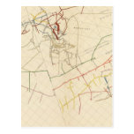 Mapas de mina de Comstock número VIII Postales