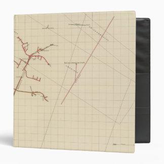 """Mapas de mina de Comstock número VIX Carpeta 1 1/2"""""""