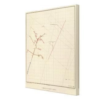 Mapas de mina de Comstock número VIX Lienzo Envuelto Para Galerias