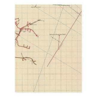 Mapas de mina de Comstock número VIX Postal