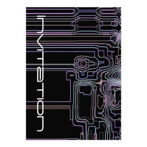 Mapas de Techno del arte Anuncios