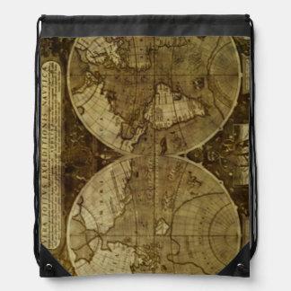 Mapas de Viejo Mundo del vintage Mochilas