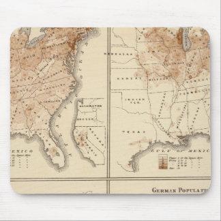 Mapas del censo de Estados Unidos, 1870 Alfombrillas De Ratón