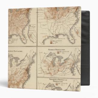"Mapas del censo de Estados Unidos, 1870 Carpeta 1 1/2"""