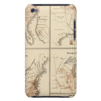 Mapas del censo de Estados Unidos, 1870 Case-Mate iPod Touch Protectores