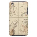 Mapas del censo de Estados Unidos, 1870 iPod Case-Mate Carcasa