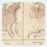 Mapas del censo de Estados Unidos, 1870 Colcomania Cuadrada