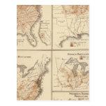 Mapas del censo de Estados Unidos, 1870 Postal