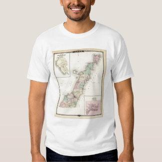 Mapas del condado de Door, bahía del esturión y de Camisas