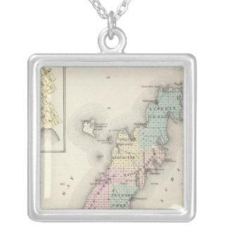 Mapas del condado de Door, bahía del esturión y de Joyerias