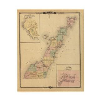 Mapas del condado de Door, bahía del esturión y de Cuadros De Madera