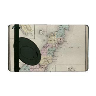 Mapas del condado de Door, bahía del esturión y de iPad Funda