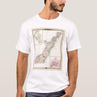 Mapas del condado de Door, bahía del esturión y de Playera