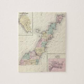 Mapas del condado de Door, bahía del esturión y de Rompecabezas Con Fotos