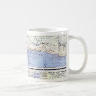 Mapas del desembarco por playa de Omaha Tazas De Café