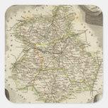 Mapas del ejemplo pegatina cuadrada