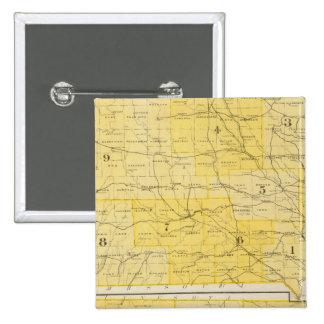 Mapas del estado de Iowa Pin Cuadrado