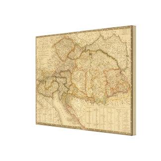 Mapas del imperio lona envuelta para galerias