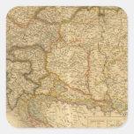 Mapas del imperio pegatina cuadradas