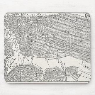 Mapas del mapa NYC de New York City Brooklyn de lo Tapete De Ratón