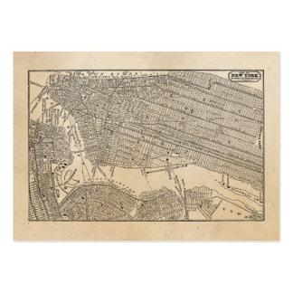 Mapas del mapa NYC de New York City Brooklyn de lo Plantilla De Tarjeta Personal