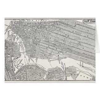 Mapas del mapa NYC de New York City Brooklyn de lo Tarjeta Pequeña