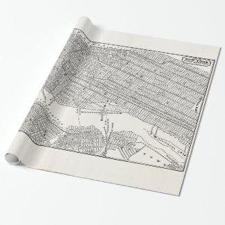 Mapas del mapa NYC de New York City Brooklyn de Papel De Regalo