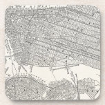 Mapas del mapa NYC de New York City Brooklyn de Posavasos De Bebidas