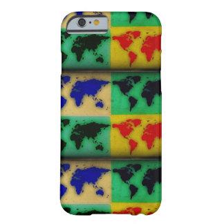 mapas del mundo coloridos funda para iPhone 6 barely there