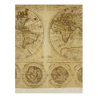 Mapas del mundo de Hictoric - mapas de Viejo Mundo Tarjeta Postal