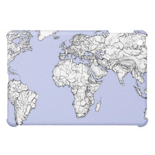 Mapas del mundo en azules cielos
