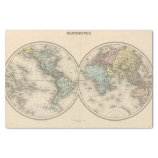 Mapas del mundo papel de seda