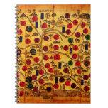 Mapas del siglo XIX de Peninsula.jpg coreano Libros De Apuntes Con Espiral