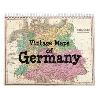 Mapas del vintage del calendario de Alemania