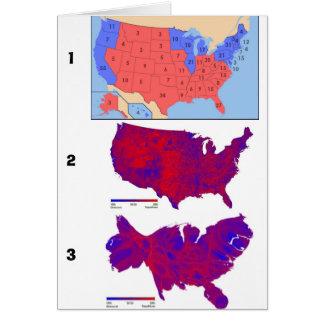 Mapas Democratic del voto Tarjeta De Felicitación