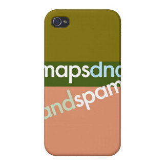 """""""Mapas, DNA, y Spam """" iPhone 4 Carcasas"""