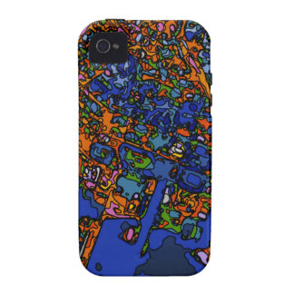 Mapas enrrollados, NUEVA YORK iPhone 4 Carcasa