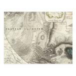 Mapas geológicos diversos tarjetas postales