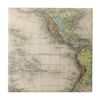 Mapas hipsométricos del mundo azulejo cerámica