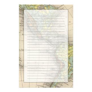 Mapas hipsométricos del mundo papelería personalizada