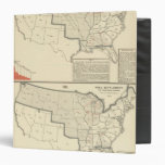 Mapas litografiados bicolores de Estados Unidos