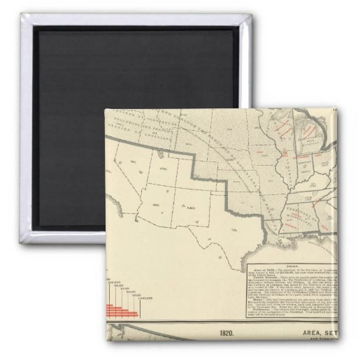 Mapas litografiados bicolores de Estados Unidos Imanes Para Frigoríficos