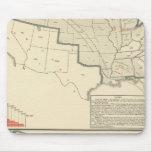 Mapas litografiados bicolores de Estados Unidos Tapete De Ratón