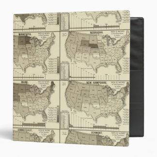 mapas litografiados de Estados Unidos
